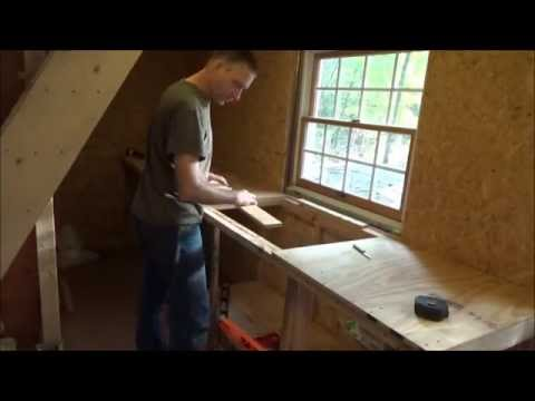 Finished Framing Tiny Home Kitchen Counter Tops S34