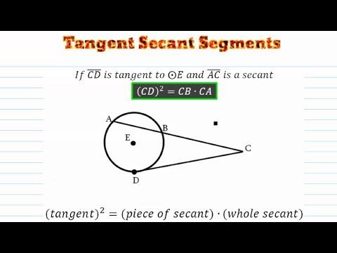 Circles - Tangent - Secant Segments