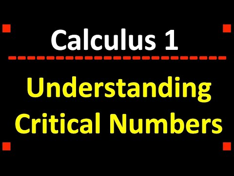 Definition of Critical Numbers and Finding Critical Numbers from Graphs ❖ Calculus