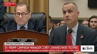 Corey Lewandowski testifies at impeachment hearing before congress, live stream