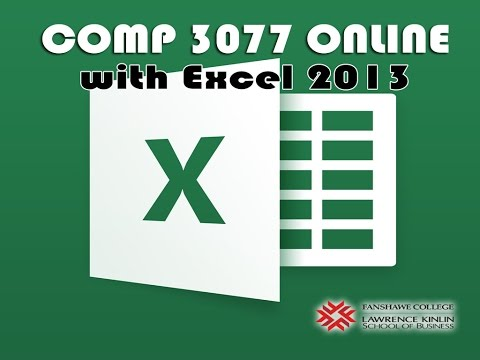 COMP 3077 WEEK 1 - Setting Your System Language, Language Settings in Windows, Excel 2013 for SAM
