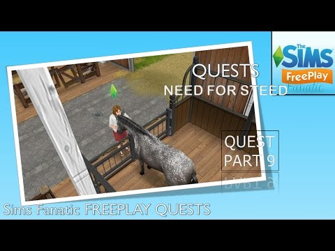 Sims FreePlay - Coming the Horse Stables with Simsvalley Townies (Quest pt. 9 {Need for Steed})
