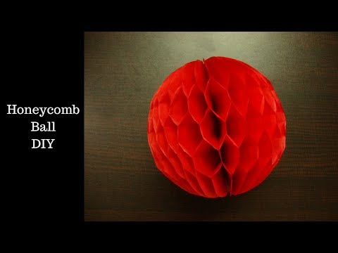 Paper Honeycomb ball. how to make paper honeycomb ball. honeycomball paper craft.