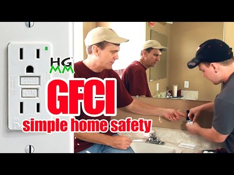 How to install a GFCI outlet. Simple home safety.