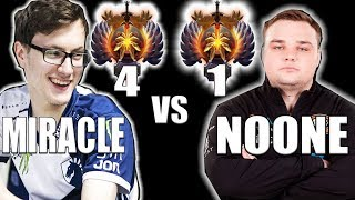 NOONE vs MIRACLE- Dota 2 BOSS Has Been KICK OUT Top 1 Replace by NOONE