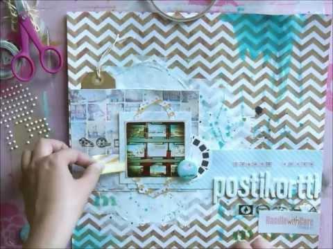 Postcard - scrapbooking layout