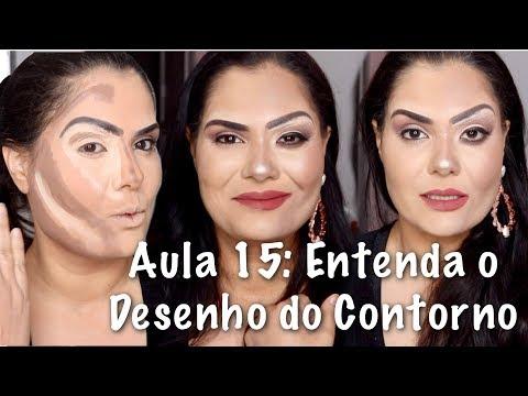 Aula 13: ENTENDA O DESENHO DO CONTORNO | CURSO DE MAQUIAGEM 2018