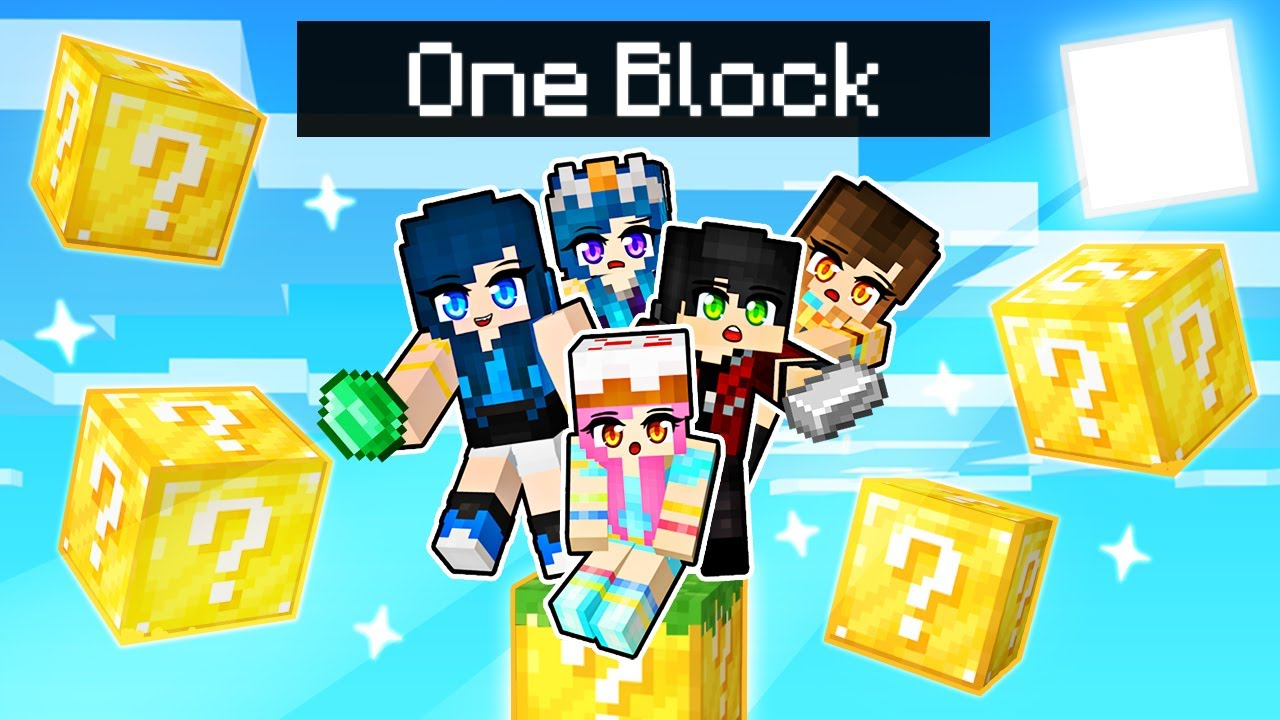 Minecraft but we're stuck on ONE LUCKY BLOCK!
