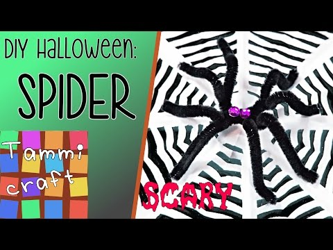 How to Make a Spider for Halloween - Tutorial