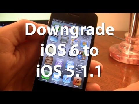 Downgrade iOS 6 to iOS 5.1.1 on iPhone 4, 3GS, iPod Touch 4G - Tutorial