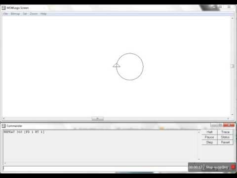 How to Draw Circle in MS Logo