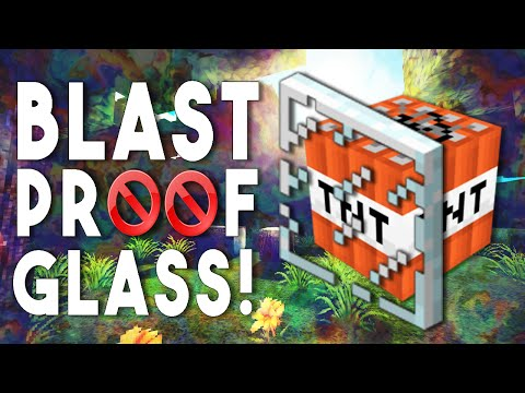 BLAST PROOF GLASS!! - No TNT Damage (Minecraft Quick Tips #13)