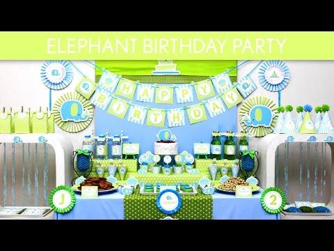 Elephant Birthday Party Ideas // Elephant - B135