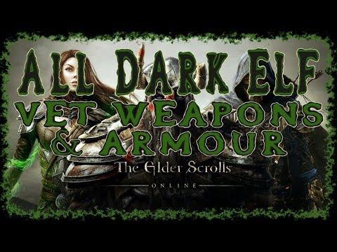 Elder Scrolls Online | All Dark Elf Veteran Weapons & Armour | Light Medium Heavy | Melee Bow Staff