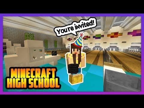 HIGH SCHOOL BOWLING PARTY! - Minecraft High School