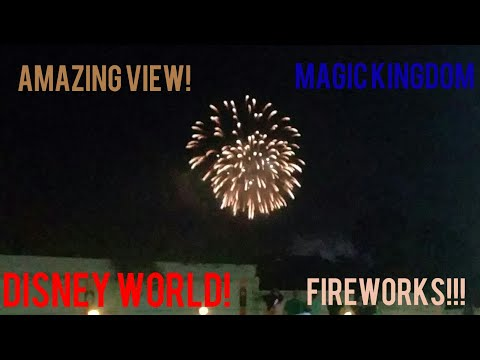 Amazing View of the Magic Kingdom Fireworks! (Shades of Green hotel)