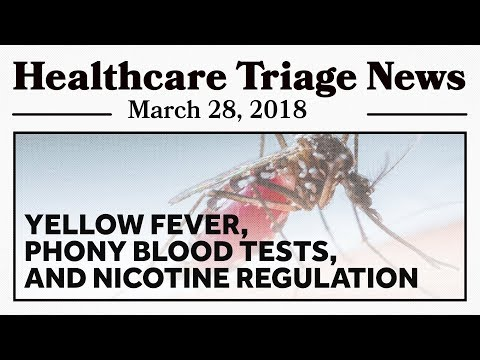 Yellow Fever, Theranos, and Low Nicotine Cigarettes