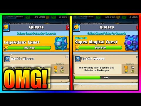 Clash Royale NEW QUEST CHEST CYCLE! FREE LEGENDARY AND SUPER MAGICAL CHESTS!