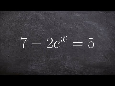 Solving an exponential equation by taking the log of both sides
