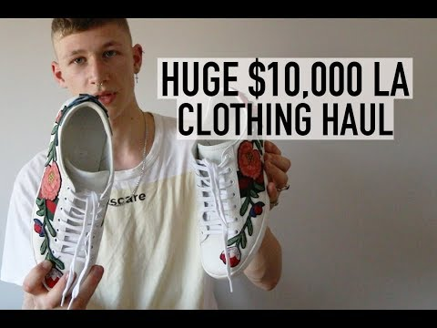 $10,000 LA Clothing Haul - LV, Gucci, Christian Roth, Off White, Cottweiler & MORE...