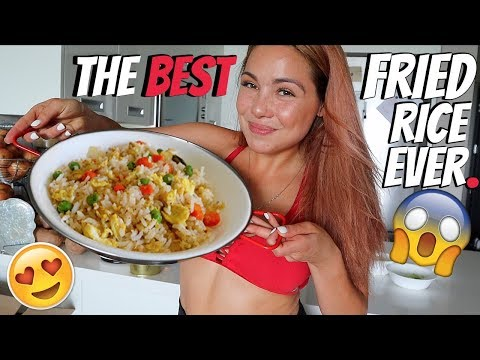 Simple Chinese Fried Rice Recipe 먹방 Mukbang - Cooking Show