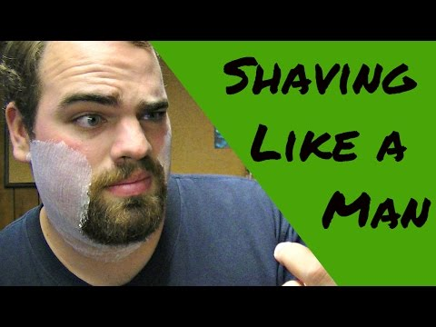 How to Shave Your Beard Like a Man. (Face Shaving Tutorial)