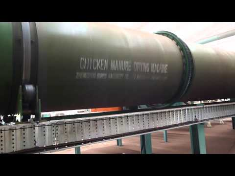 Poultry Manure Dryer for producing organic fertilizer