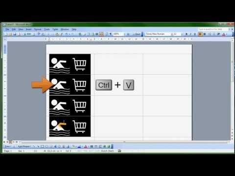 Hoe maak je zelf stickers met Microsoft Word 2003?