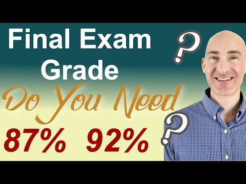 Final Exam Grade Needed (How to Calculate)