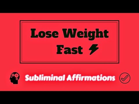 How to Lose Weight Quickly - Weight Loss Subliminal Affirmations Session - 30 Day Challenge!