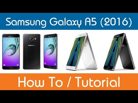How To Add And Remove Widgets - Samsung Galaxy A5