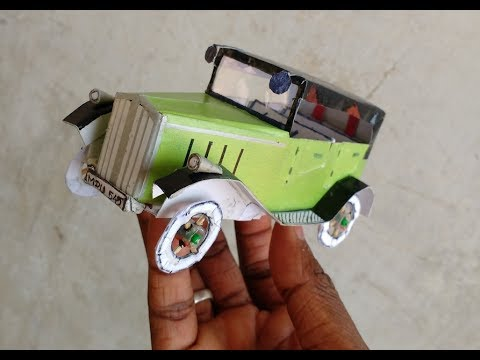 Making of Vintage Car from cardboard | DIY: Car miniature