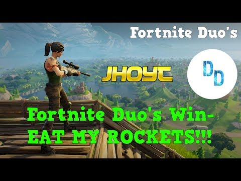 Fortnite Duo's Win w/ Dunndurr - EAT MY ROCKETS!!!