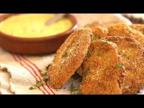 Fried Green Tomatoes with Garlic Aioli Recipe || KIN EATS