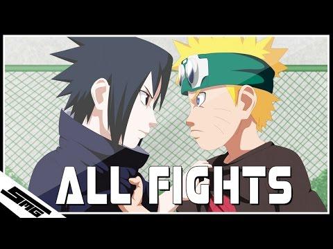 All Naruto vs Sasuke Fights - Naruto Ultimate Ninja Storm 1-4