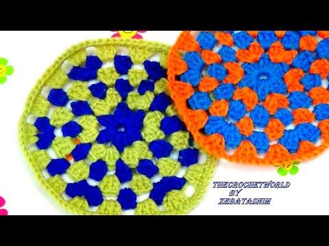 how to make a crochet granny  circle