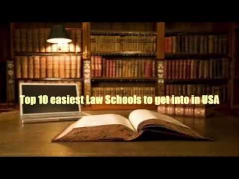Top 10 easiest Law Schools to get into in USA