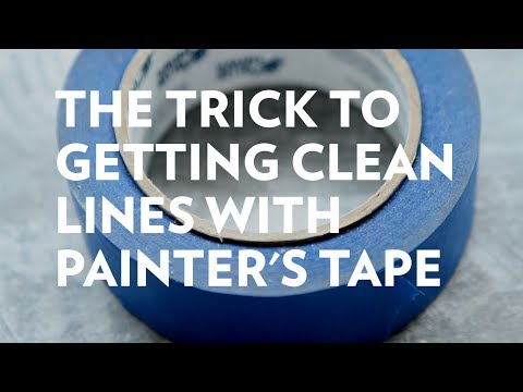 How to get clean lines with painter's tape