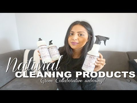 Natural Cleaning Products| Grove Collaborative Unboxing