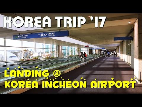 LANDING KOREA INCHEON AIRPORT