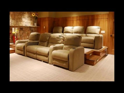 Home theater room seating ideas