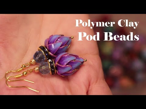Polymer Clay Pod Beads