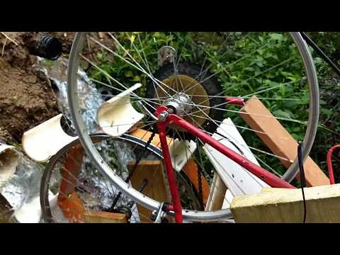 Homemade Hydroelectric Water Wheel