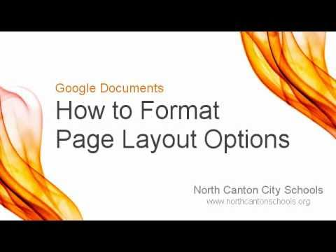 Google Documents How To Format Page Layout Options