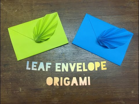 How to Make an Origami Leaf Envelope