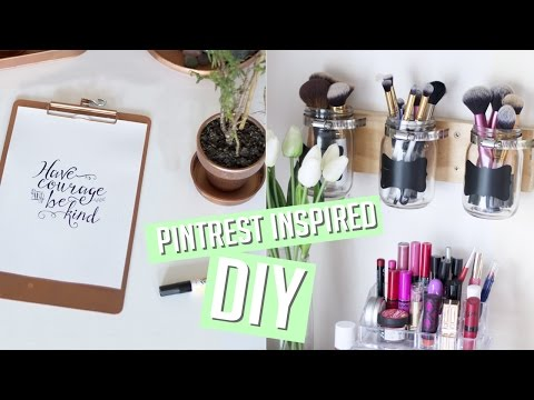 DIY Room Decor + Organisation - Pinterest Inspired