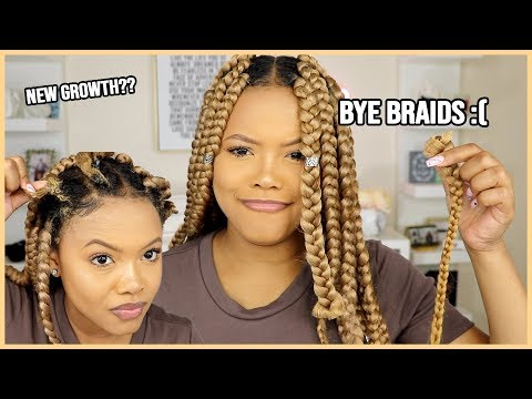 Xxx Mp4 Removing My Box Braids After 2 Months New Growth LengthCheck Naturally Sunny 3gp Sex