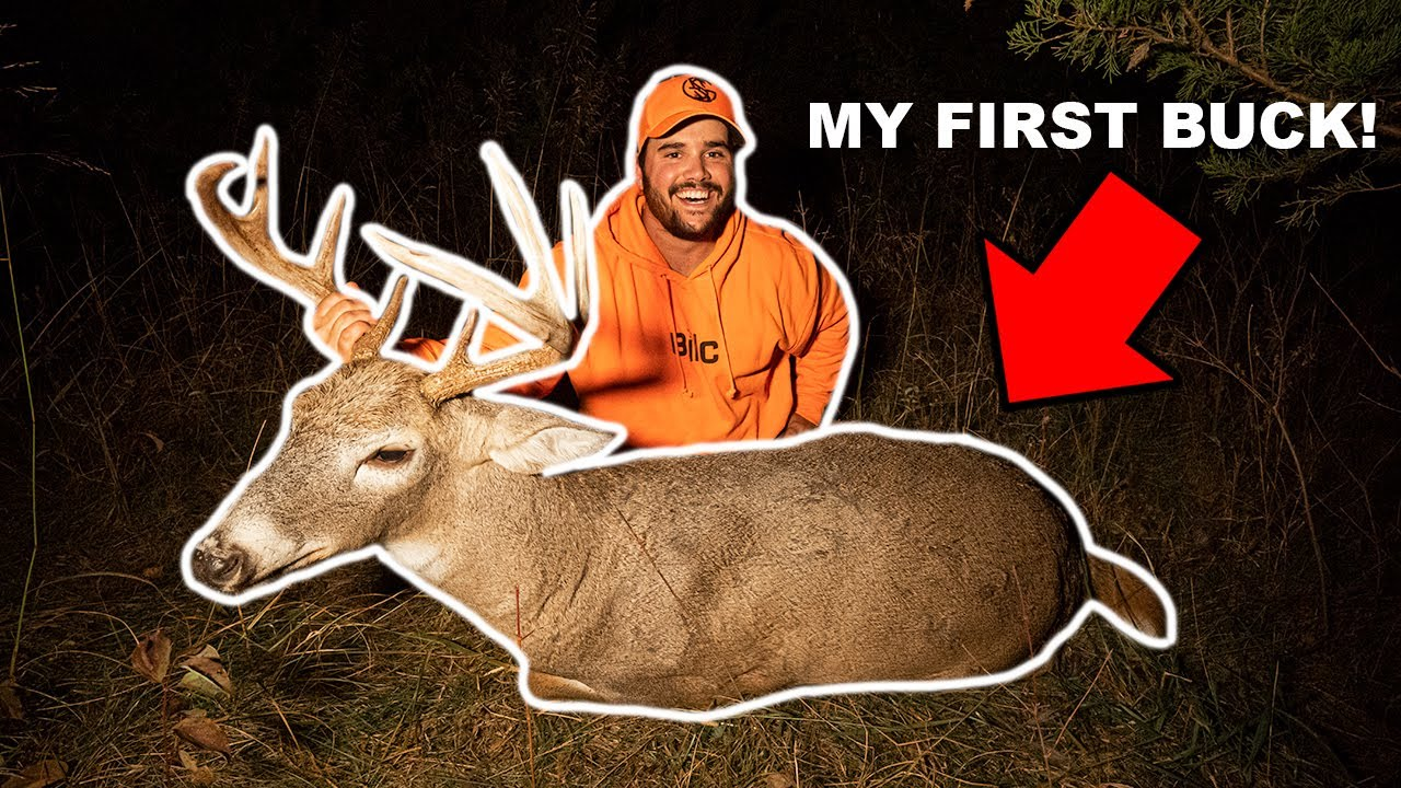 BACKYARD Deer Hunting CATCH CLEAN COOK!!! (My First Buck!)