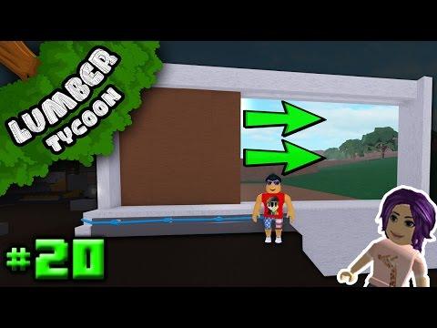 Lumber Tycoon Ep. 20: AUTO SLIDING GARAGE DOOR w/ MummyMcSpringy   Roblox