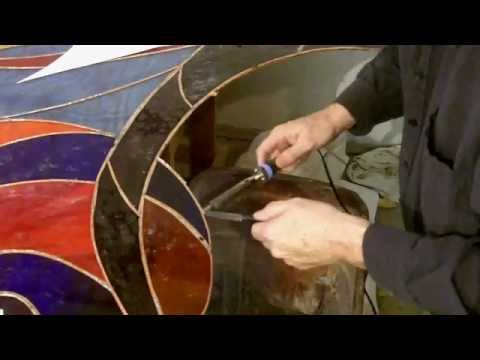 Fixing a BIG stained glass panel